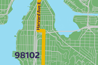 image link to 98102 bike route map