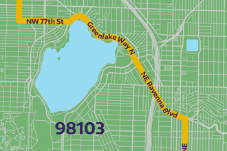 imagine link to 98103 bike route map
