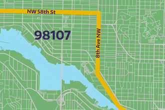 imagine link to 98107 bike route map