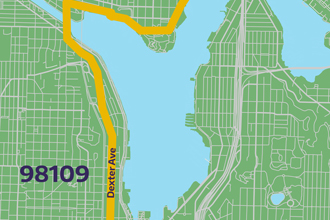imagine link to 98109 bike route map