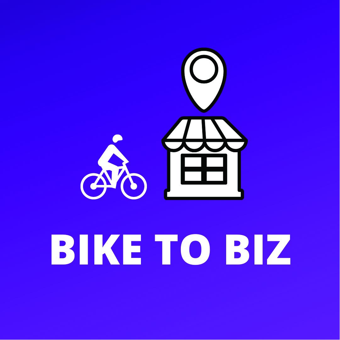 Bike Month Bike to Biz promotional graphic