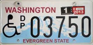 Image of Disability license plate