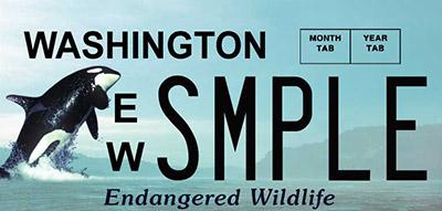 Image of Endangered Wildlife license plate
