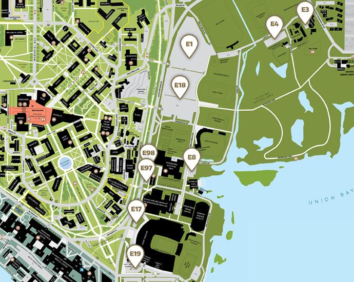 Campus Map Utep.Self Serve Parking Transportation Services