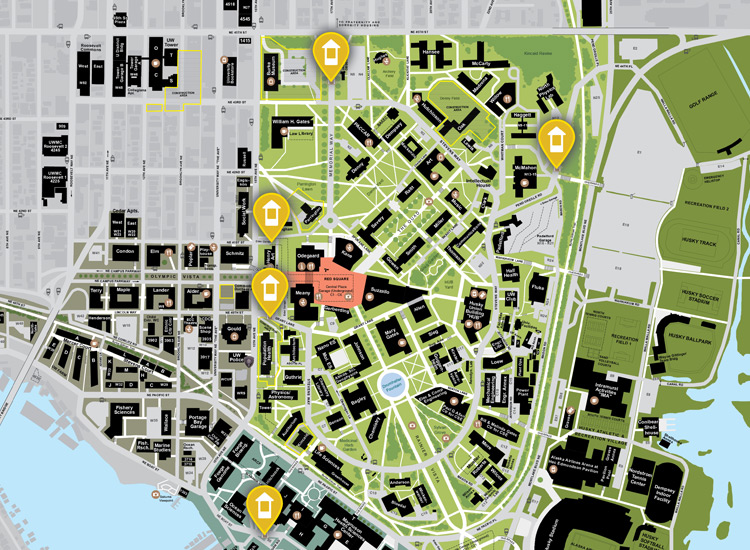 map of all campus gatehouses