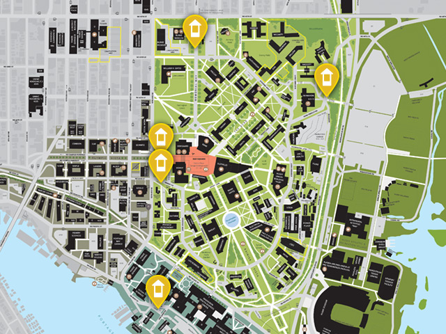 map of campus gatehouses