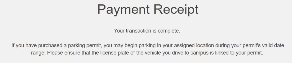 screenshot of permit confirmation and completed transaction
