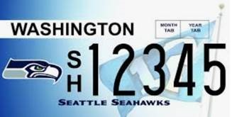 Image of Seahawks license plate