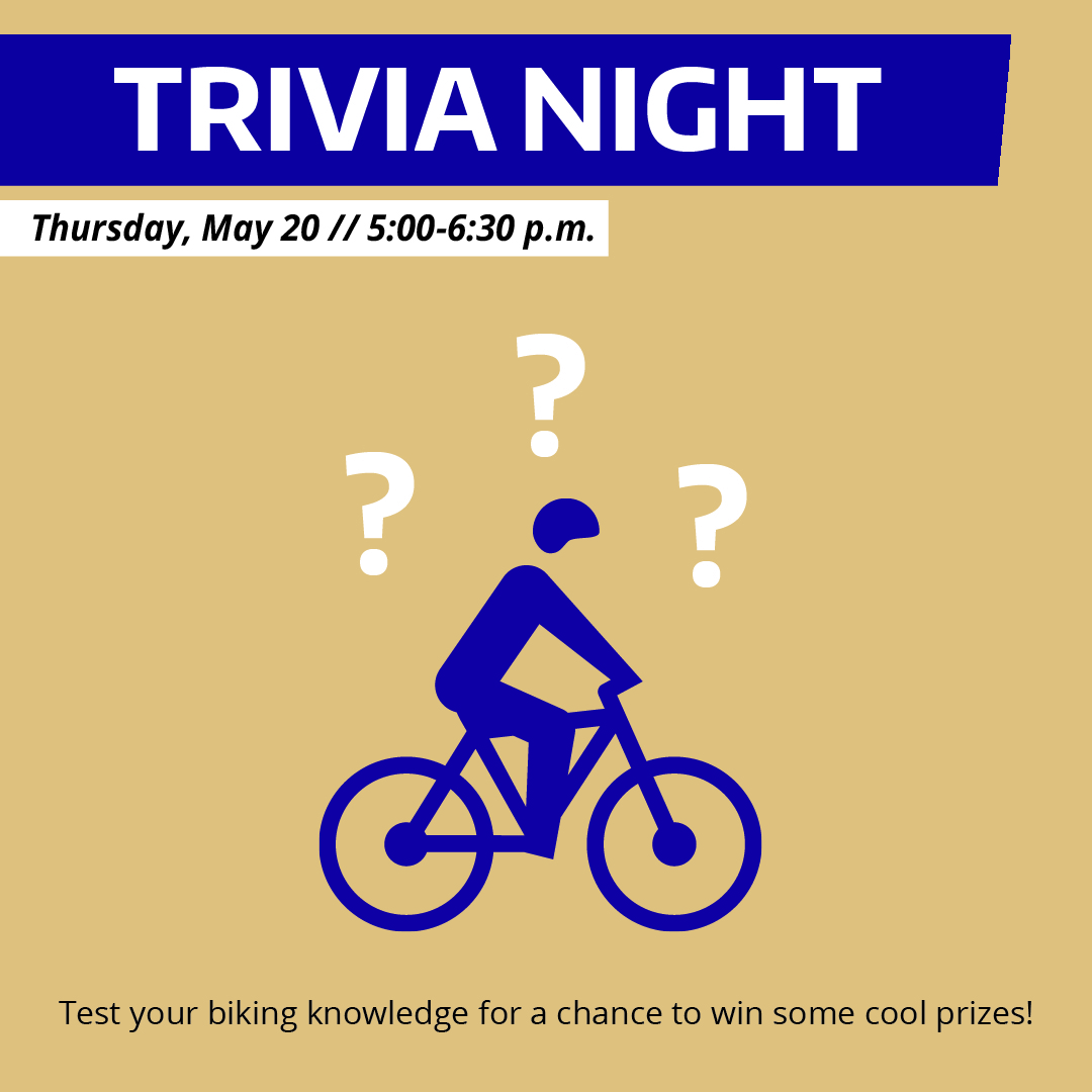Bike Month Trivia Night promotional graphic