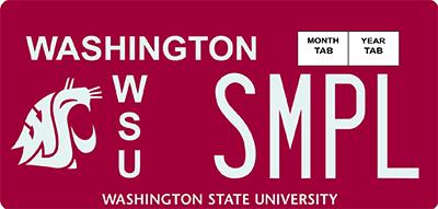 Image of Washington State University license plate